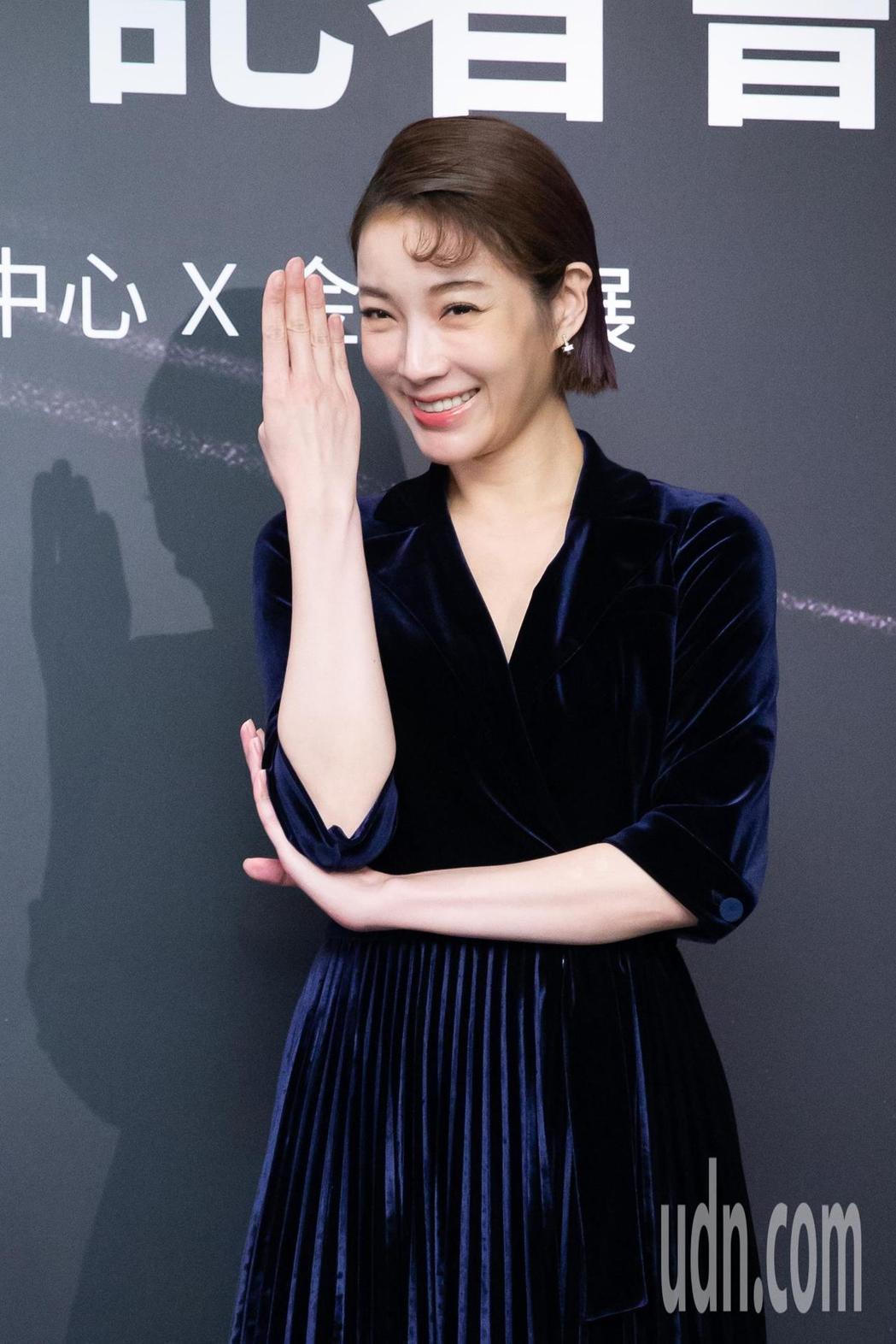 蔡淑臻亮麗出席新片首映活動。記者季相儒/攝影