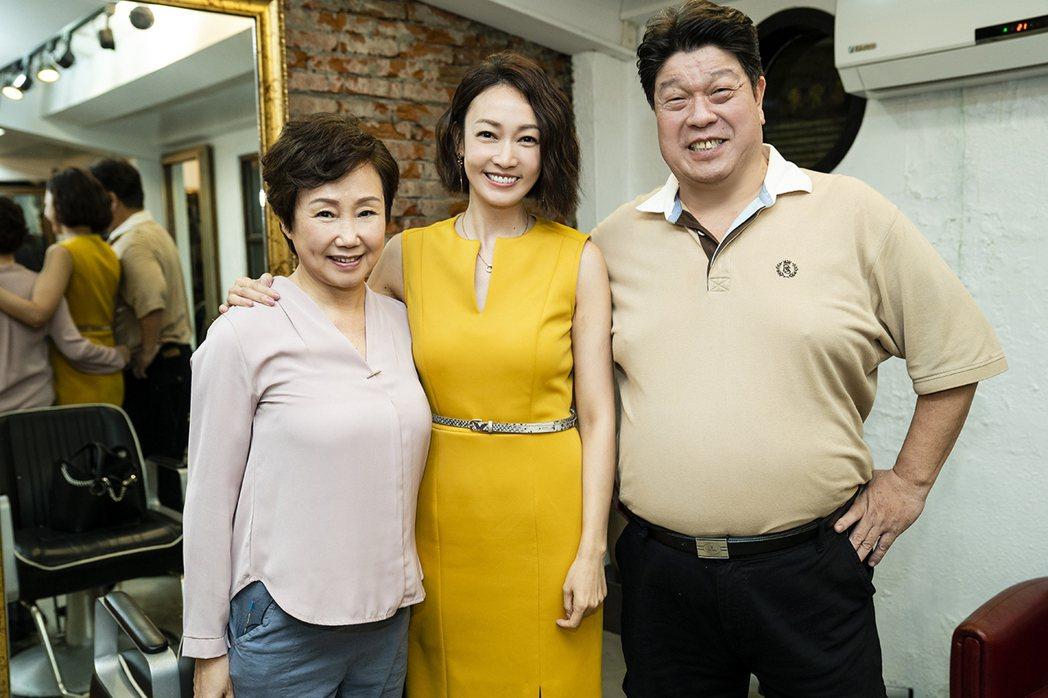 陳季霞(左起)、潘慧如、羅北安在「天堂的微笑」有精彩對手戲。圖/TVBS提供