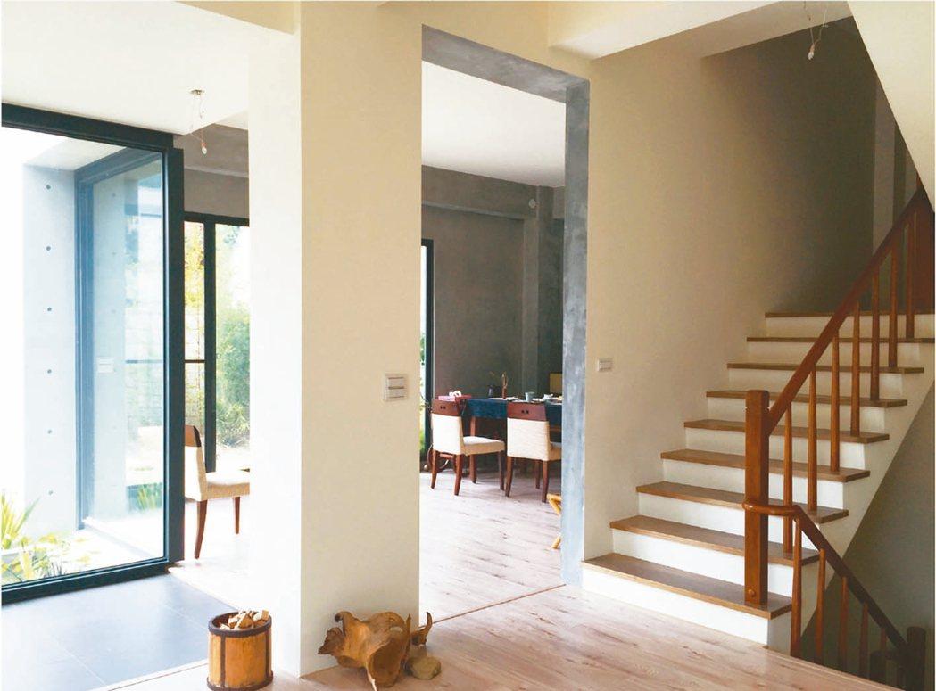 家人分別住在樓上、樓下,可以保持獨立又互相照應的優點。 圖╱原點出版社提供
