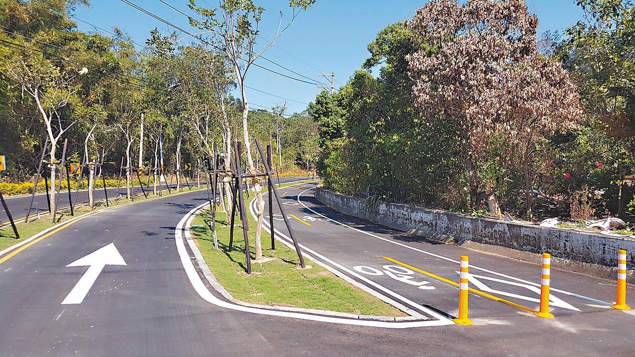 省道台13甲線造橋鄉舊路段,鄉公所爭取開闢成綠色生態景觀廊道,即將啟用,1.6公...