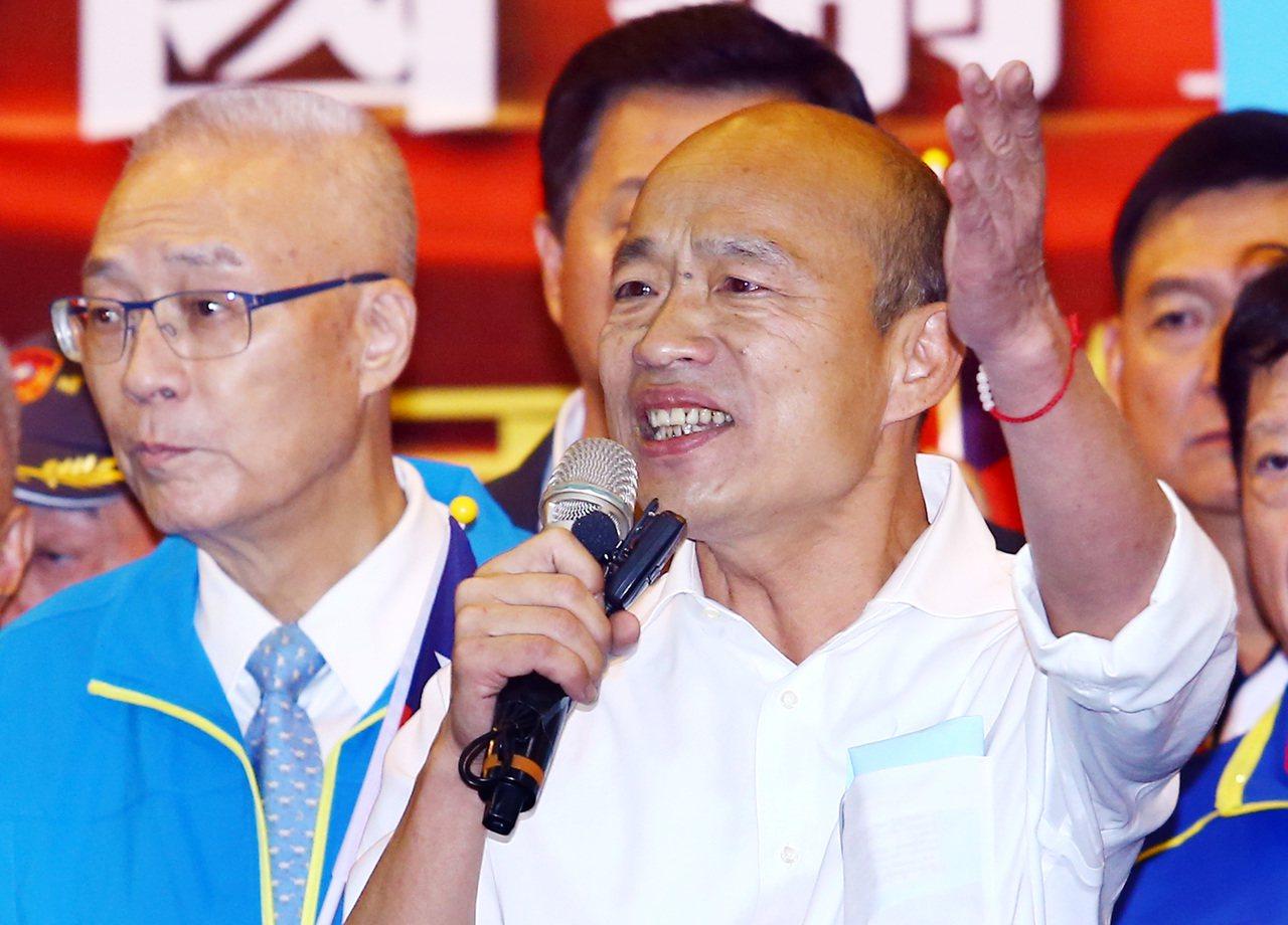 國民黨總統參選人韓國瑜強打青年政見,搶回不少選戰議題主導權。記者杜建重/攝影