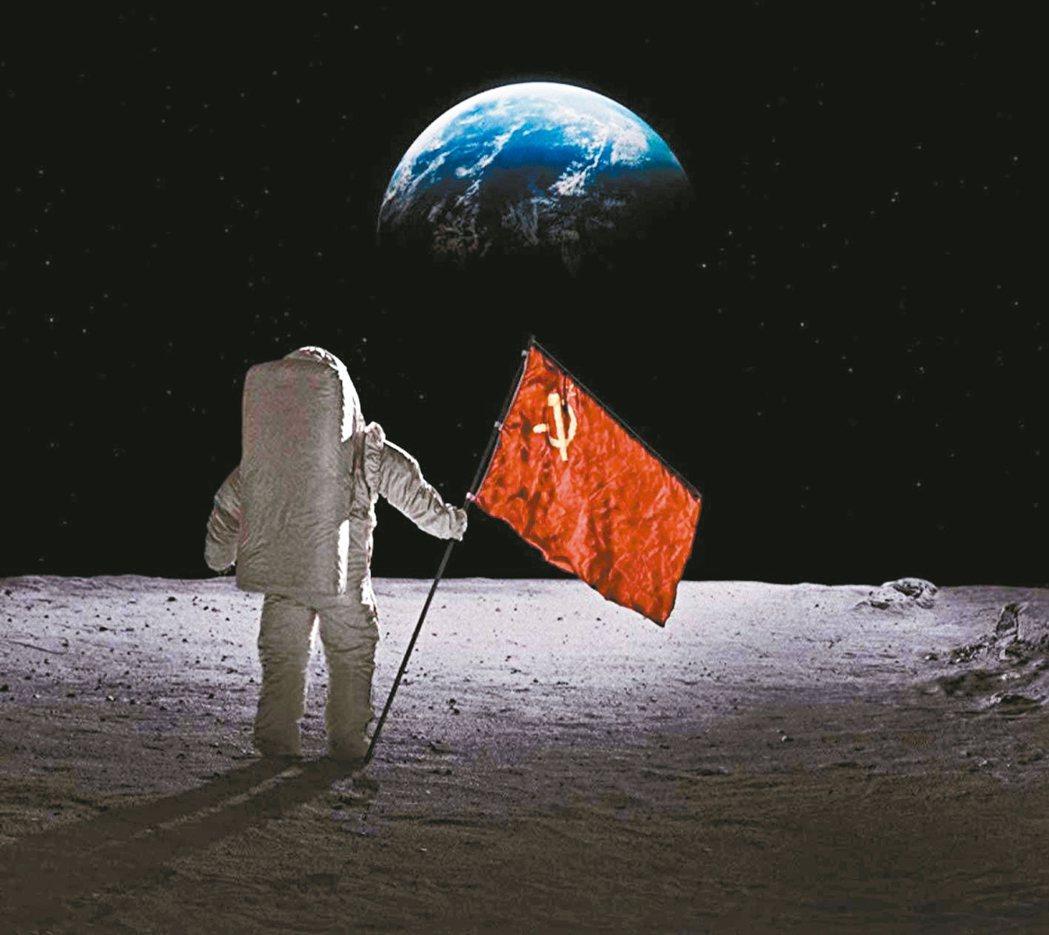 「太空使命」幻想蘇聯搶先美國登陸月球後的衝擊與轉變。 圖/APPLE TV+提供