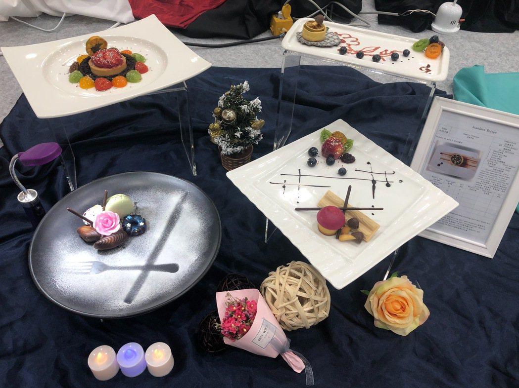 劉華珊同學榮獲杏仁膏裝飾蛋糕組銀牌。 吳鳳/提供