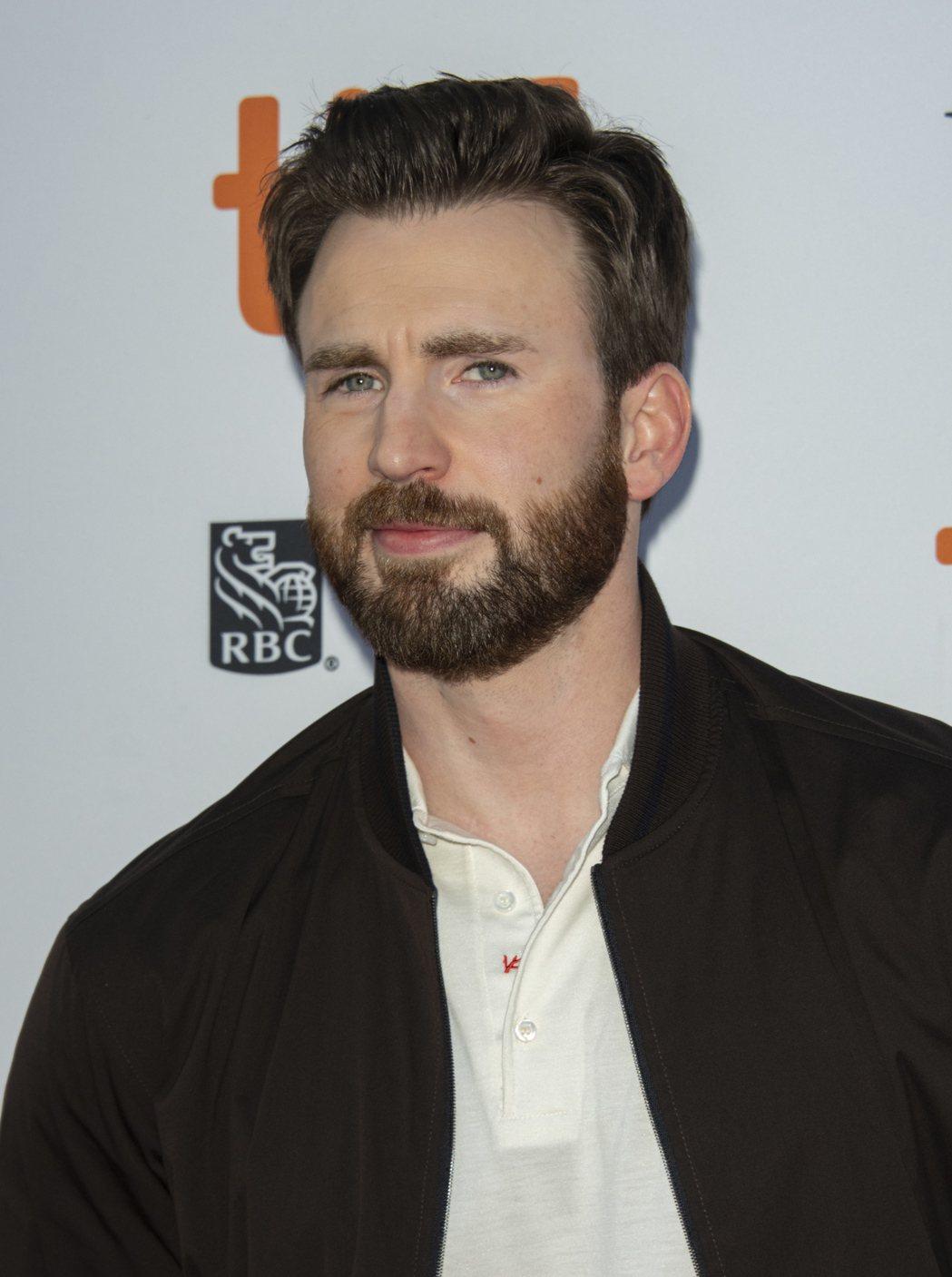 克里斯伊凡戲外一直維持蓄鬍的造型。圖/歐新社資料照片