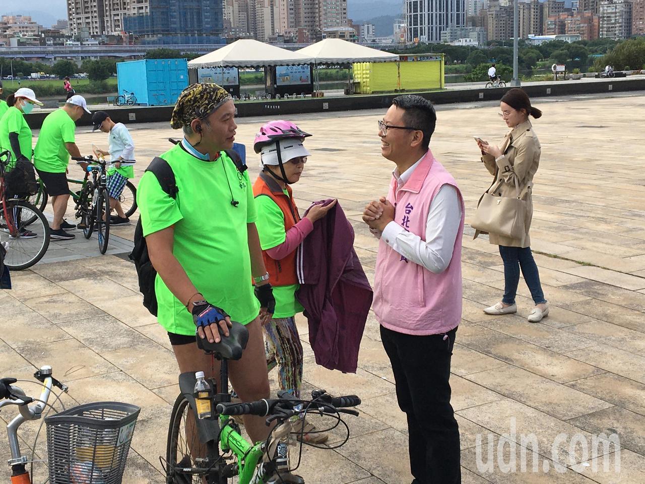 立委中正、萬華選區無黨籍參選人徐立信。記者郭頤/攝影