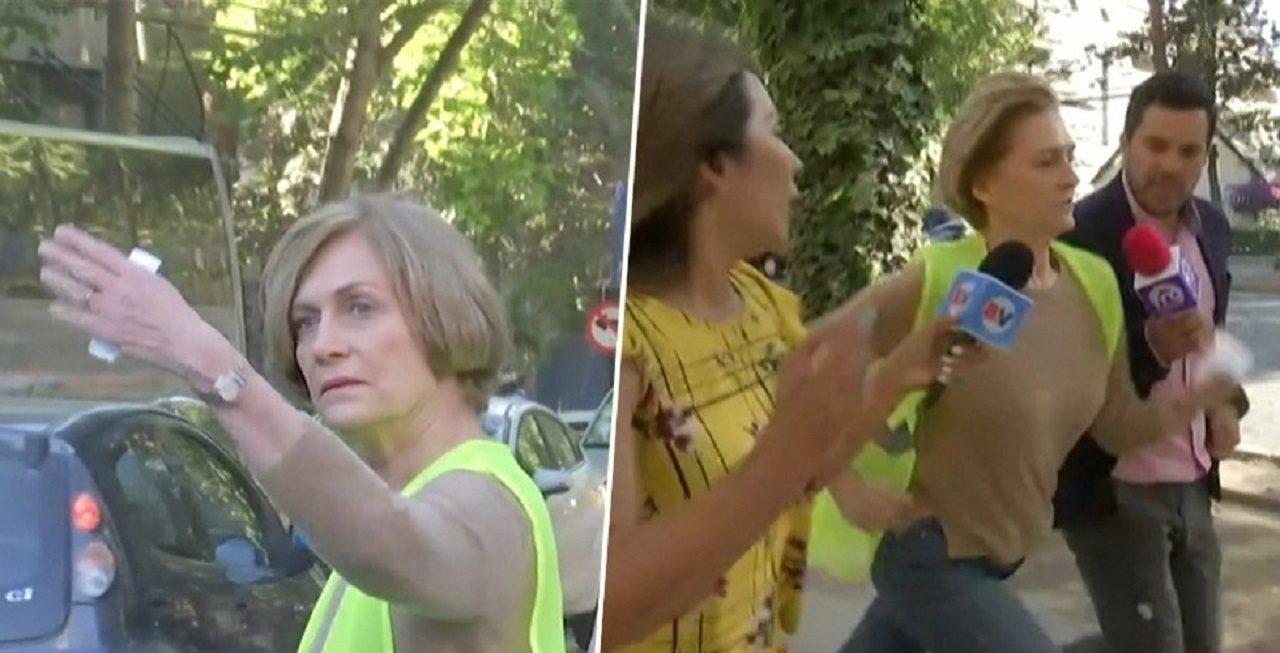 智利聖地牙哥省普羅維登斯市長馬塞7日被媒體堵訪,隨後無預警「落跑」,還跑給記者追...