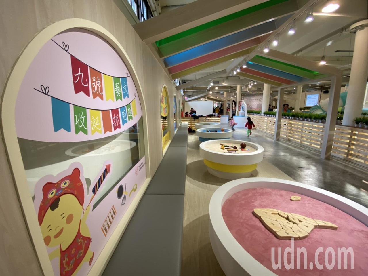 「九號製造所」今天開張,以餐飲服務及親子遊憩空間為主題。記者羅建旺/攝影