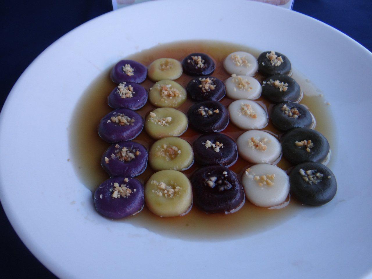 土豆湯圓好看又好吃。記者蔡維斌/攝影