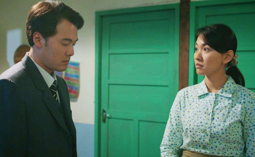 黃文星(左)劇中多場感情戲只靠眼神交流,林玟誼自虧是一對「內心戲擔當」。圖/公視...