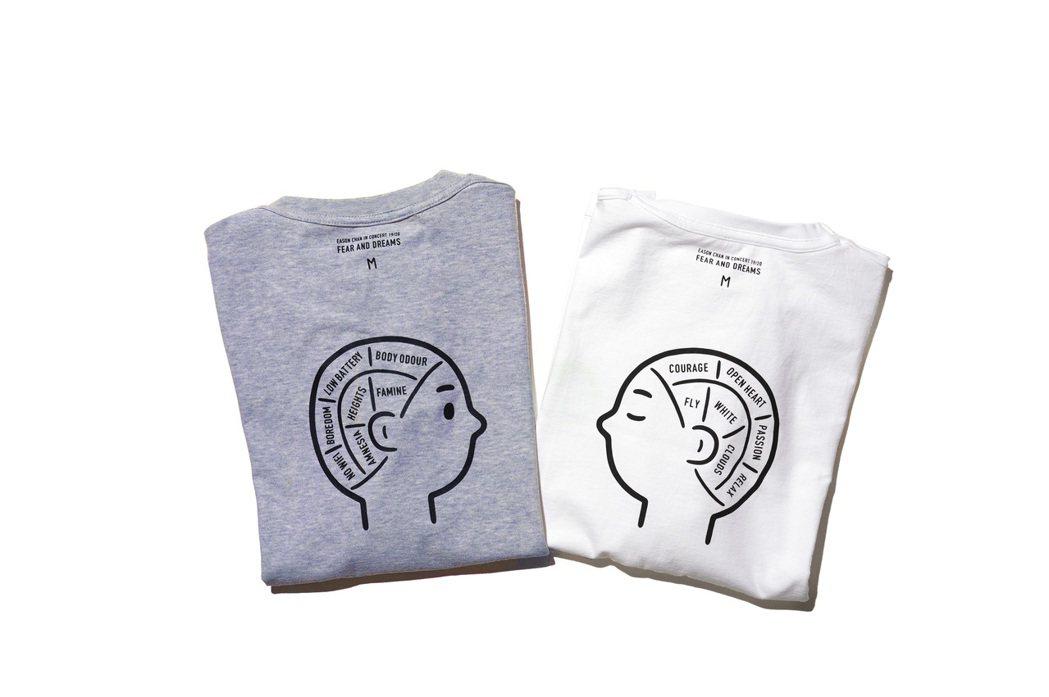 第一回合推出的2款T恤,內裡印有可愛大腦圖,暗喻想什麼只有自己心裡明白。圖/環球...