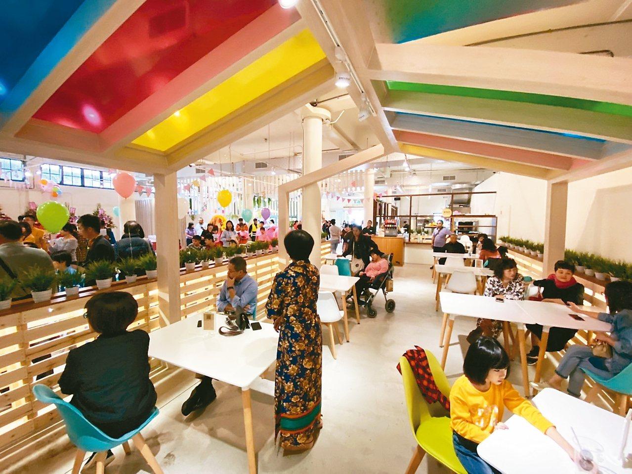 宜蘭中興文創園區新設「九號製造所」提供餐飲服務。 記者羅建旺/攝影