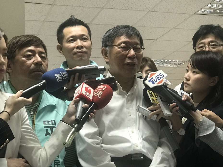 台北市長柯文哲陪民眾黨立委參選人造勢。記者楊正海/攝影