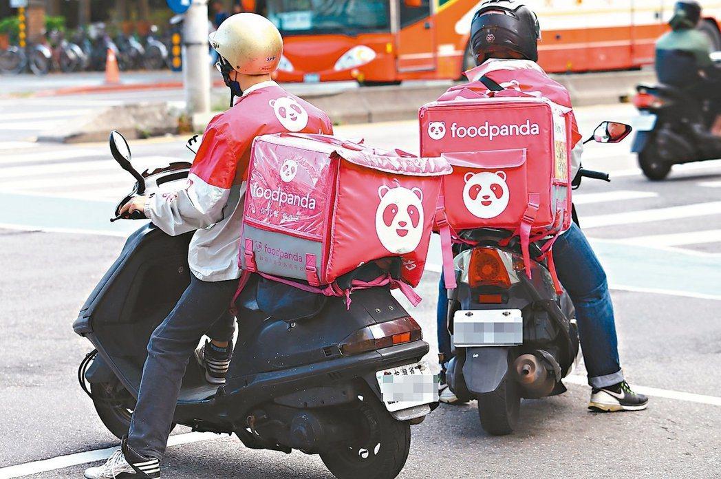 外送服務也在台灣興起。 圖/聯合報系資料照片