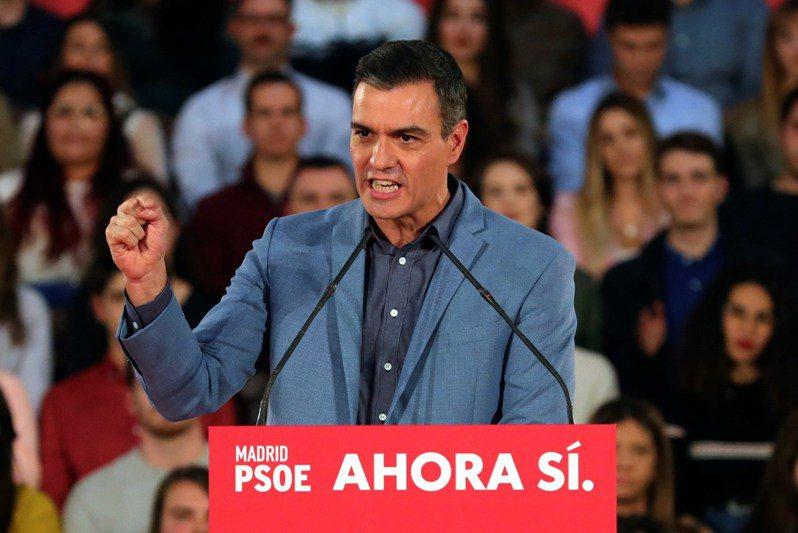西班牙代理總理桑傑士(Pedro Sanchez)。 歐新社