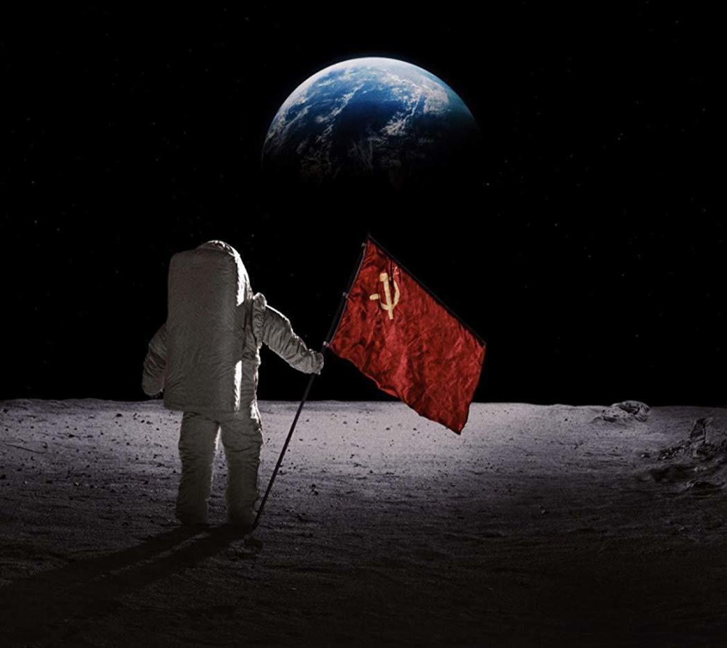 「太空使命」幻想蘇聯搶先美國登陸月球後的衝擊與轉變。圖/APPLE TV+提供