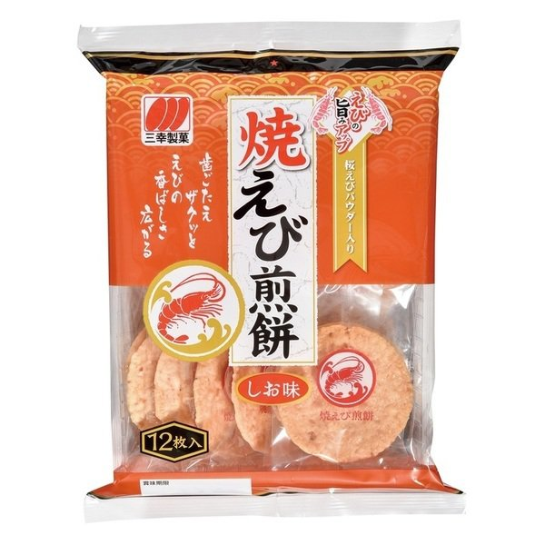 新光三越超市,三幸燒海老煎餅原價115元,優惠價買一送一。圖/新光三越提供