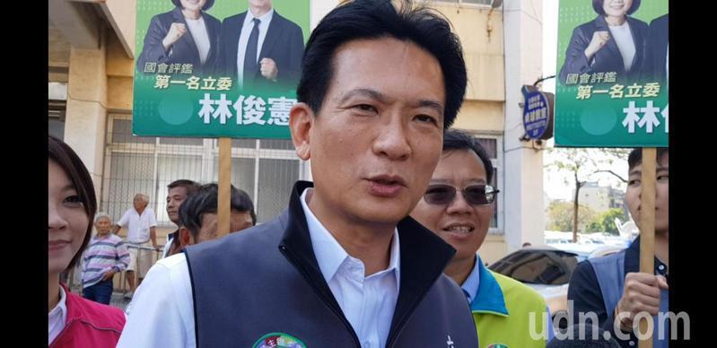 立法委員林俊憲明天將再開記者會爆料韓國瑜炒房內幕。記者修瑞瑩/攝影