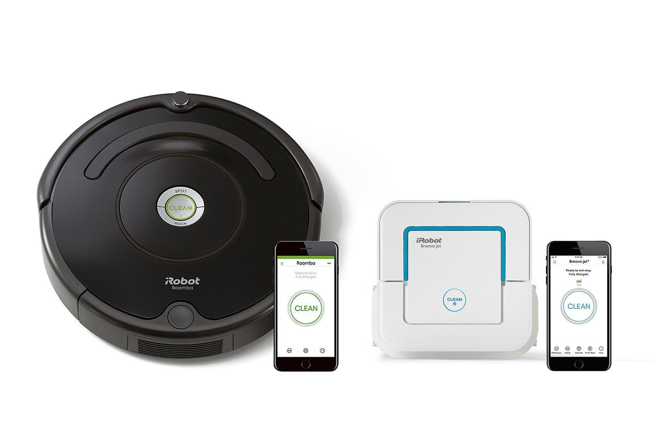 iRobot Roomba 670掃地機器人與Braava jet 240拖地機...