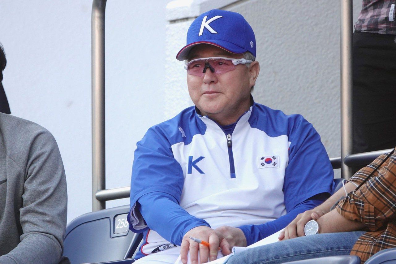 南韓隊總教練金卿文。聯合報記者蘇志畬/攝影