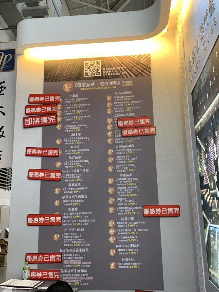 晶華酒店在開展後短短數小時內就已經有多種餐券售罄。圖/晶華酒店提供