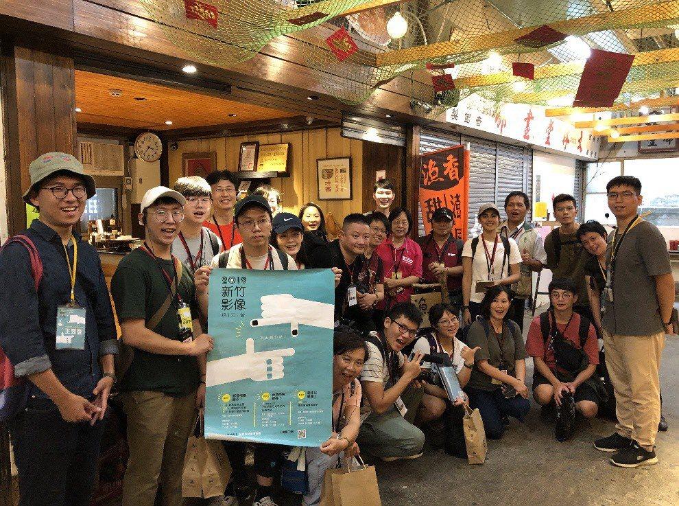 竹市影像培力營今天在影像博物館舉行成果發表,共31部新竹城市故事影片首映。圖/文...