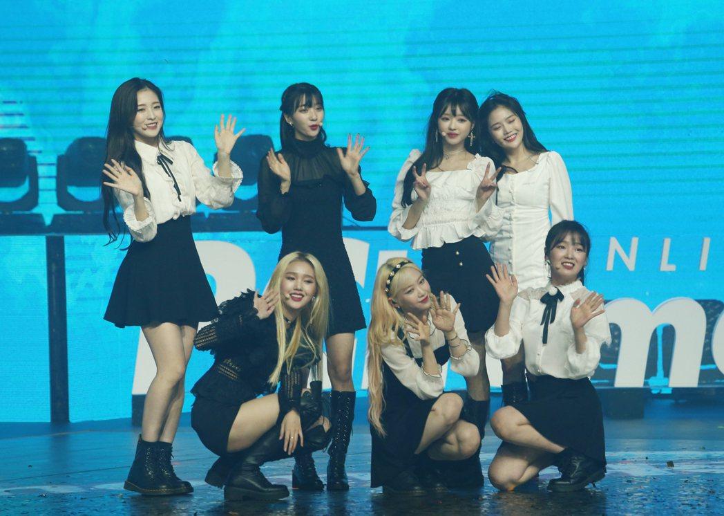 PChome雙11演唱會南韓女子團體Oh My Girl表演。記者許正宏/攝影