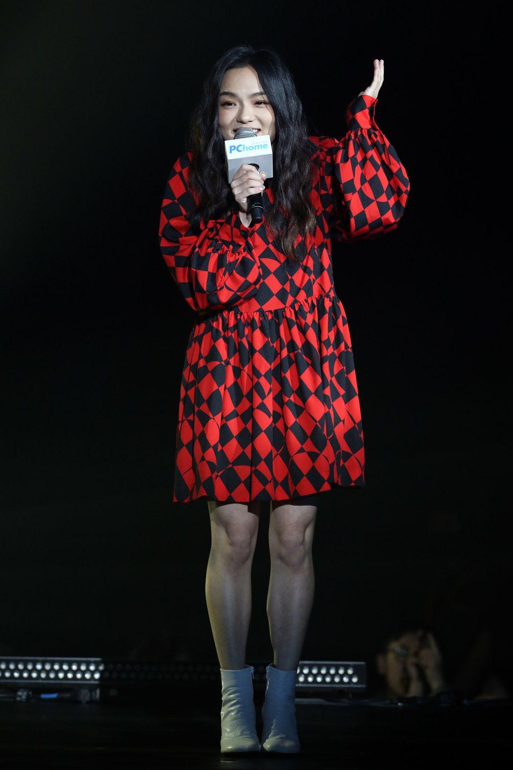 PChome雙11演唱會邀請藝人徐佳瑩演唱。記者許正宏/攝影