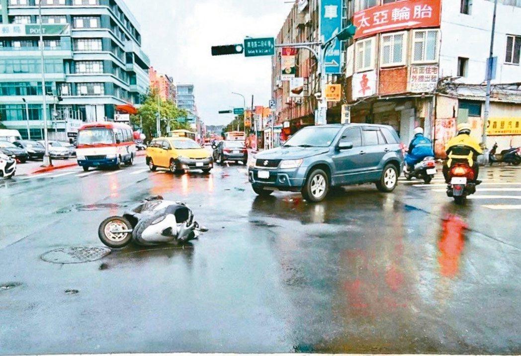 交通事故示意圖。 圖/北市交大提供