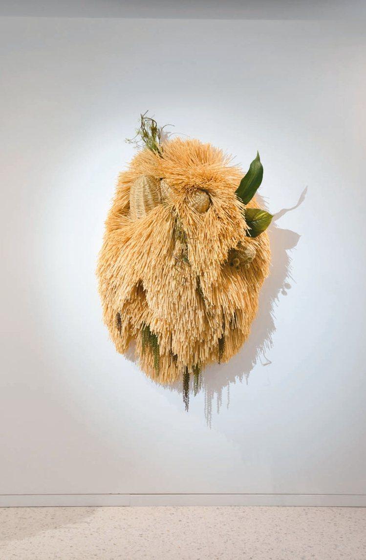 韓裔藝術家梁慧圭的作品讓葉曉甄深有共鳴。 記者陳立凱/攝影