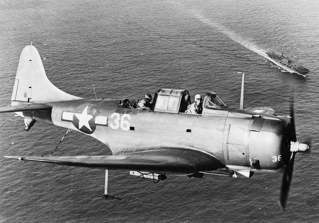 SBD無畏式俯衝轟炸機,包辦了中途島所有擊毀日艦的戰機。 圖/美國海軍資料照片