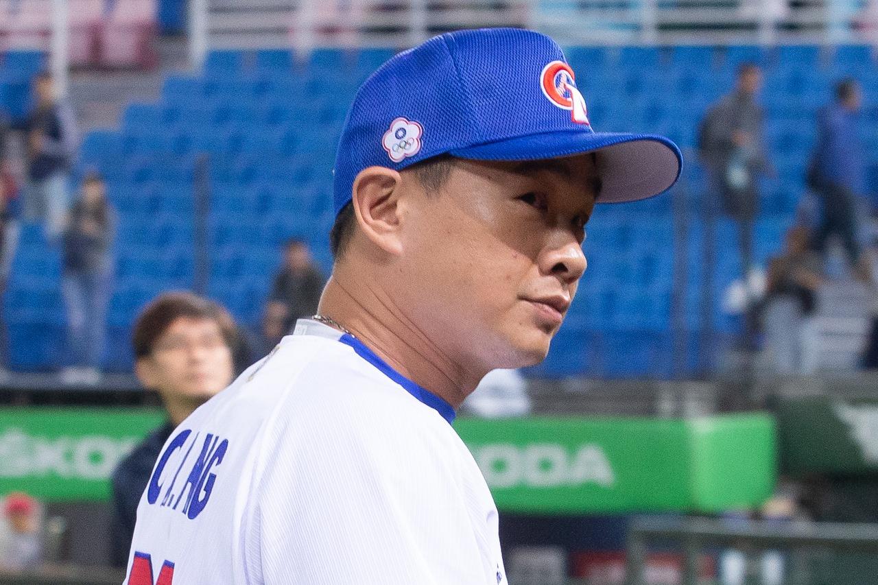 中華隊打擊教練彭政閔。 報系資料照
