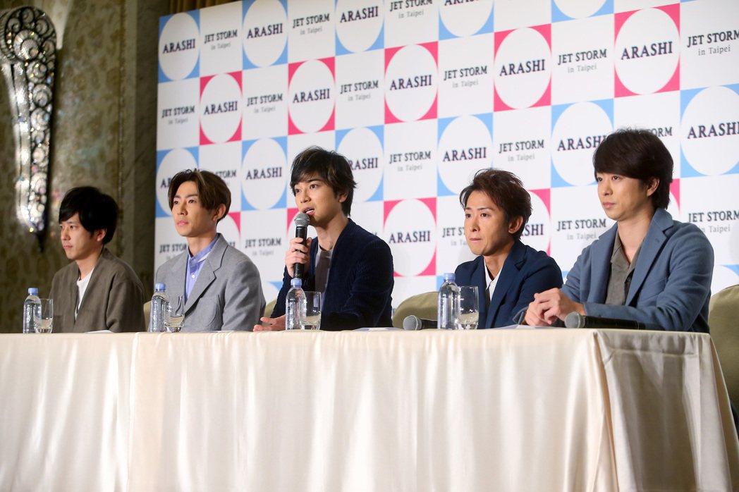 日本國民天團ARASHI嵐睽違11年再度合體來台。記者余承翰/攝影