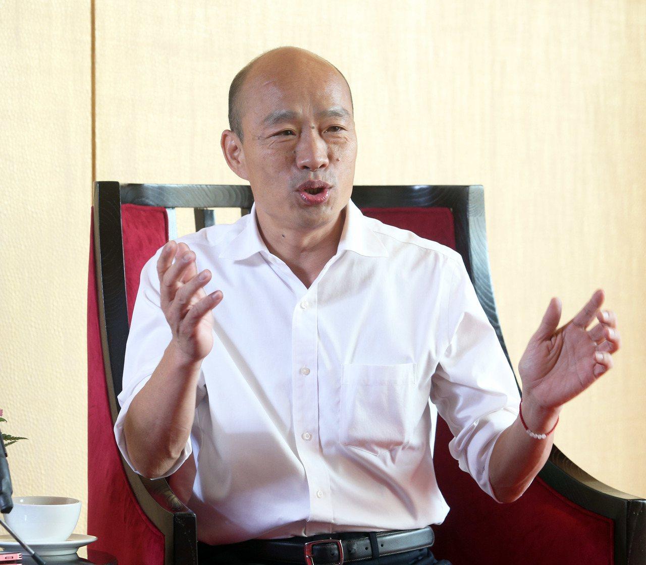 國民黨總統參選人韓國瑜談心中閣揆人選。記者劉學聖/攝影