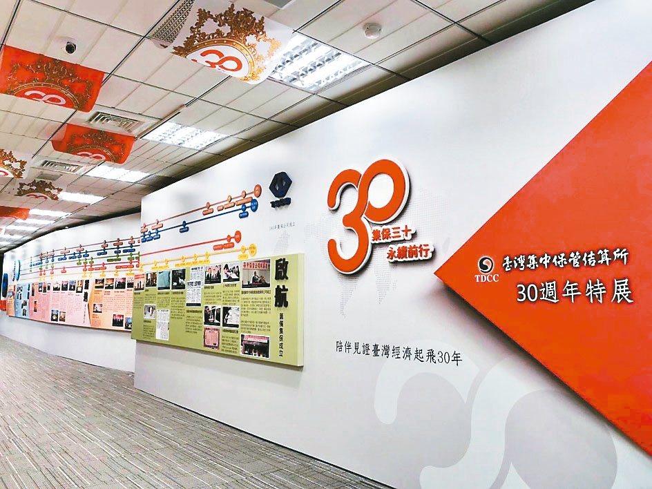 為慶祝集保結算所成立30周年,臺灣股票博物館自今(11)日起,舉辦「集保結算所3...