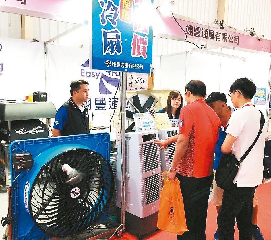 2019台中工具機展(3141攤位)推出節能、省電又環保新通風產品:渦流式循環扇...