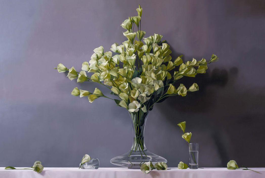 林皓白的油畫作品-沉靜。  南美館 提供