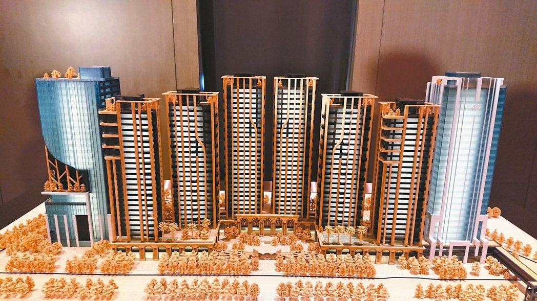 「世界明珠」規劃八棟大樓,其中兩棟商辦、六棟豪宅,豪宅低樓層擬打造星級飯店經營之...