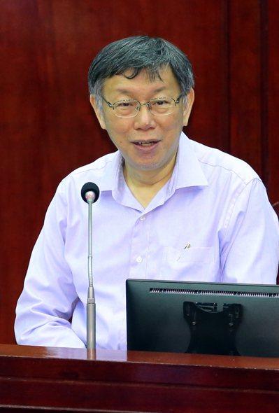 台北市長柯文哲被問到「國政配」時,直言是預料中的事情。 聯合報記者許正宏/攝影