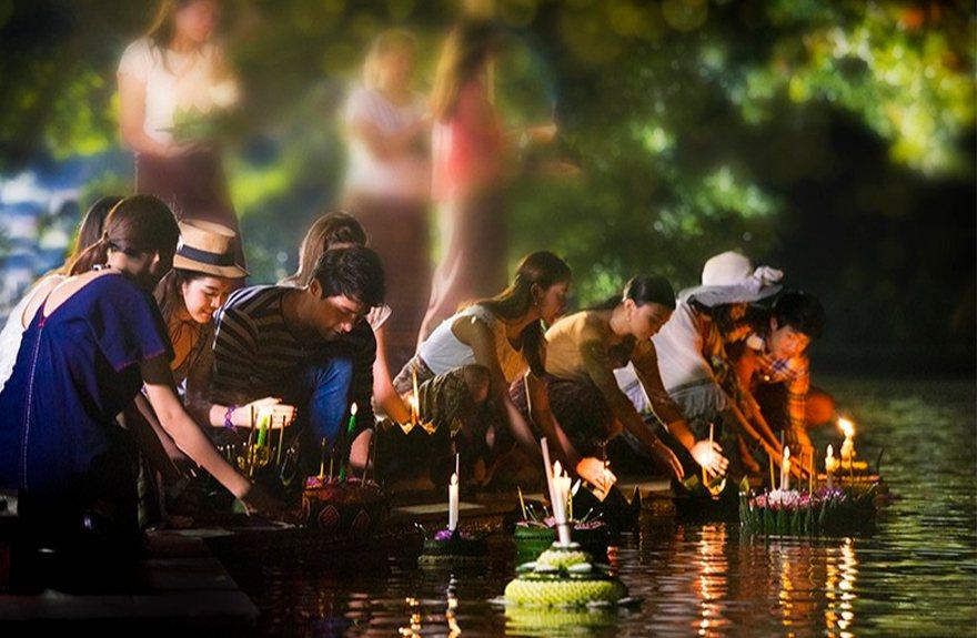 水燈節。圖/泰國觀光局提供