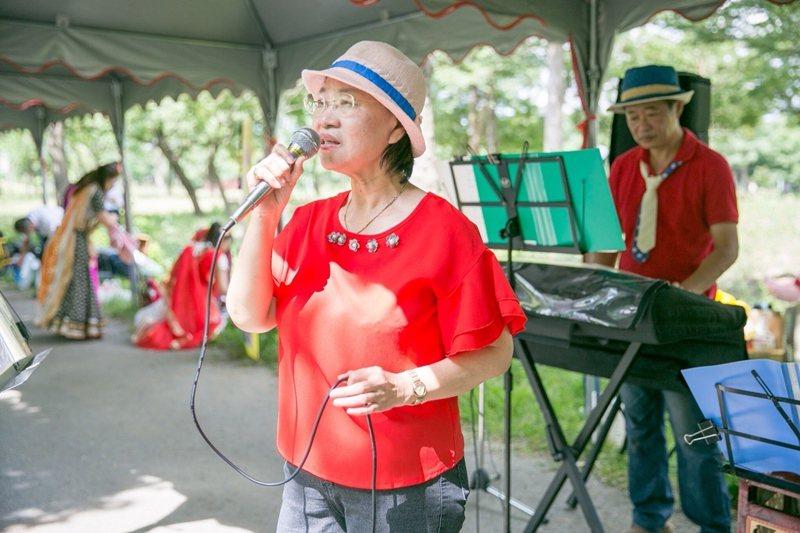 樂團主唱─蘇玉燕。 圖/蘇玉燕提供
