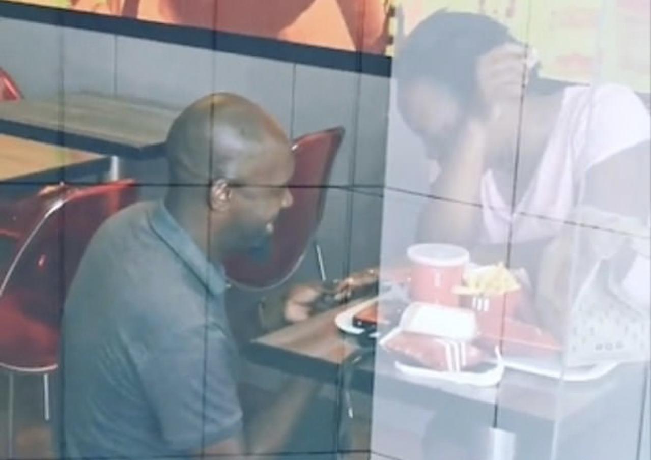 男速食店求婚結局超翻轉。圖片來源/ twitter