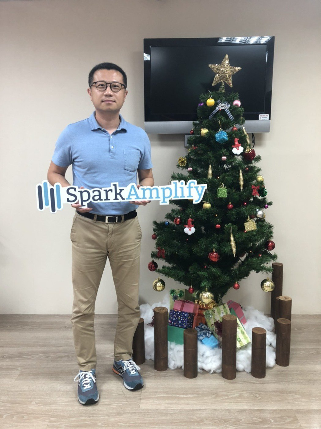 SparkAmplify執行長李健群表示,「媒體在找新聞、企業在找媒體」。 Sp...