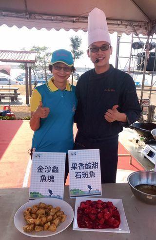 第一屆石斑魚饗鮮季創意料理大賽冠軍,最佳人氣料理獎及最佳創意料理獎,均由高雄市永...