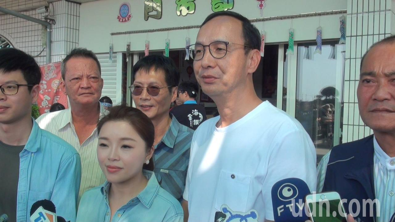 韓國瑜宣布張善政為副手,朱立倫表示給予祝福。記者蔡維斌/攝影