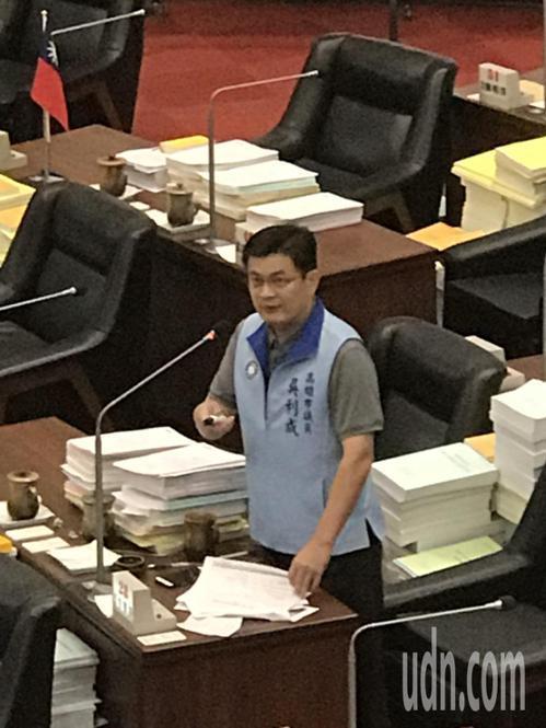 國民黨高雄市議員吳利成。記者徐白櫻/攝影