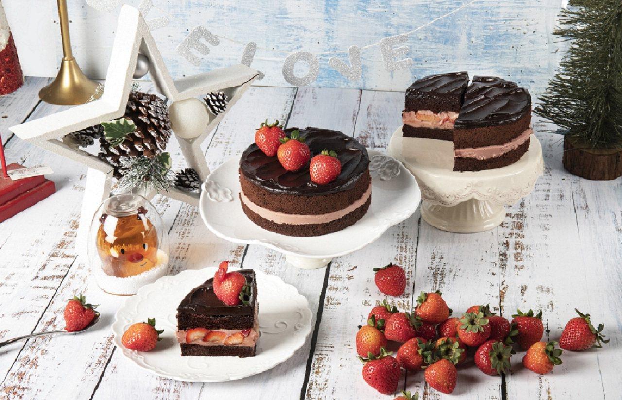 BAC「黑嘉侖草莓巧克力蛋糕」售價950元。圖/BAC提供