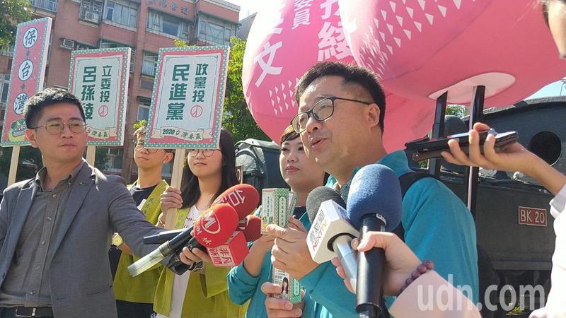 民進黨秘書長羅文嘉認為韓國瑜和張善政政策都跳票,兩人搭檔很配。記者施鴻基/攝影