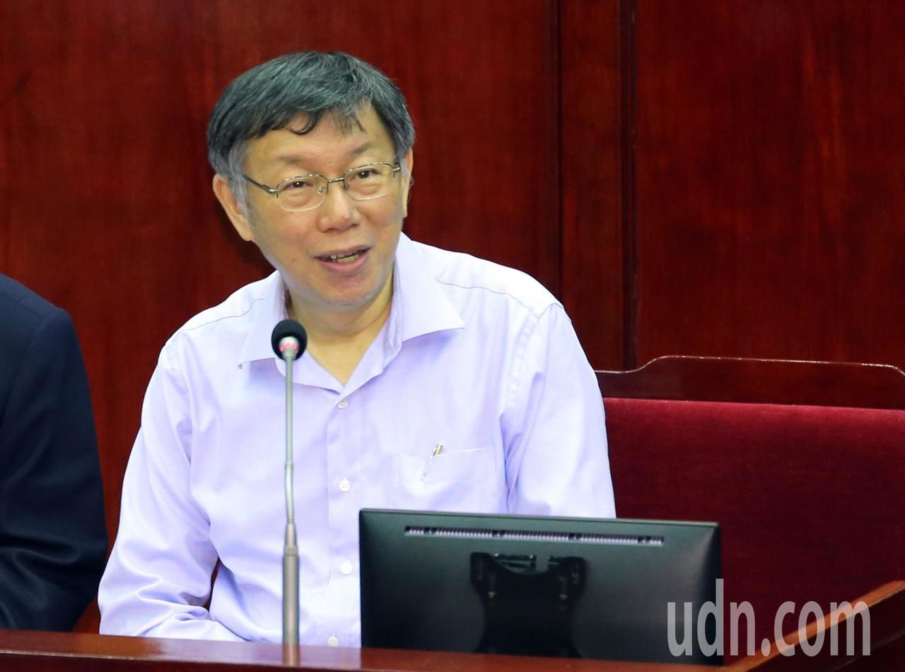 國民黨總統參選人韓國瑜宣布張善政為副手,柯文哲(圖):預料中的事。記者許正宏/攝...