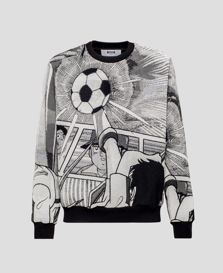 男裝足球小將翼長袖衛衣,30,800元。圖/MSGM提供