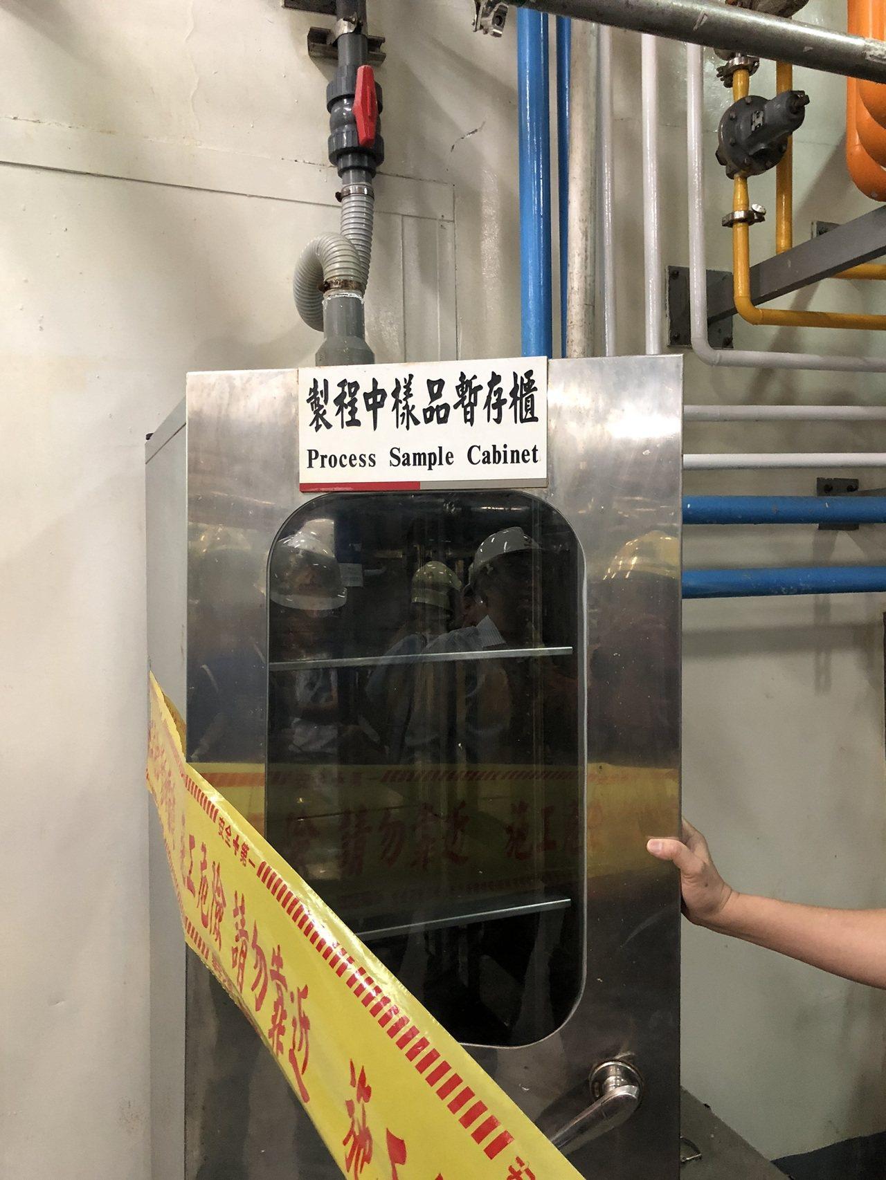 儲存濾心的樣品暫存櫃未受損。記者周宗禎/翻攝